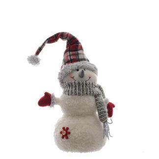 Pupazzo di neve con sciarpa cm 30