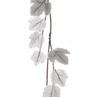 Tralcio con foglie grigie ghiacciate cm 110