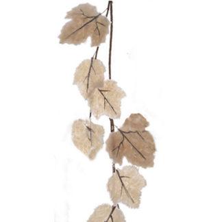 Tralcio con foglie marron ghiacciate cm 110