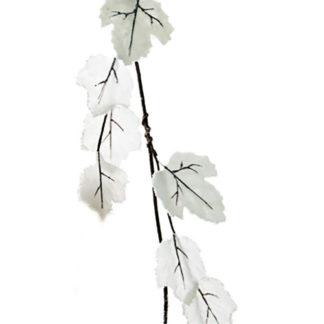 Tralcio con foglie bianche ghiacciate cm 110