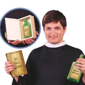 """Libro sacro stile """"Bibbia"""" con bottiglia"""