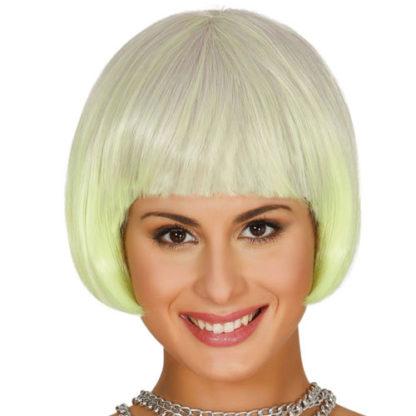 Parrucca corta gialla sfumata