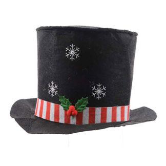 Cappello Pupazzo di Neve in Feltro con Led