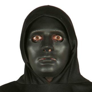 Maschera nera in plastica rigida