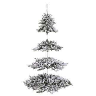 Albero di Natale innevato sospeso cm 210