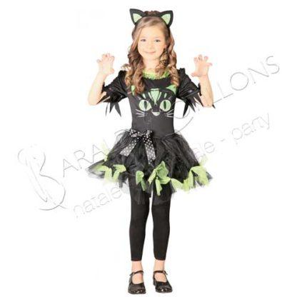 costume gattina bimba 7/9 anni tk023x