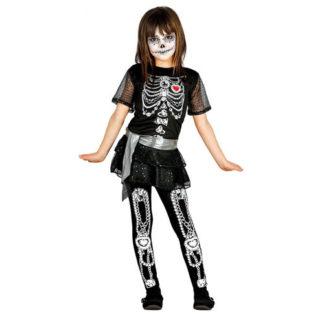 Costume Scheletro Chic bimba 7 - 9 anni