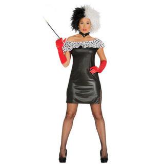 Costume stile Crudelia sexy tg. 42/44