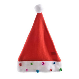 Cappello Babbo Natale con campanellini