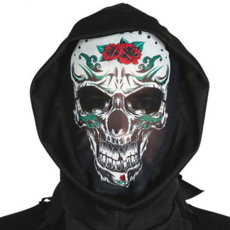 Maschera morte messicana con cappuccio