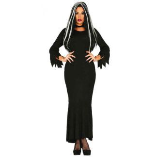 Costume stile Morticia Addams