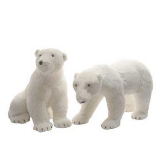 Orso Polare in peluche cm. 77