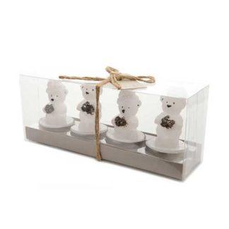 Candeline Orsetti Polari set 4 pezzi
