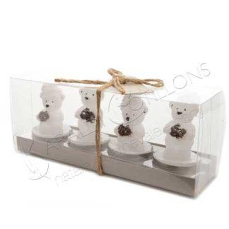 candeline orsetti natalizi