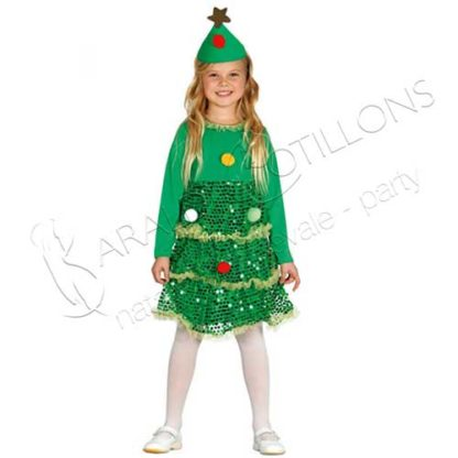 Costume Albero di Natale Bimba tk009k