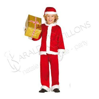 Costume Babbo Natale bimbo 7 - 9 anni tk150x