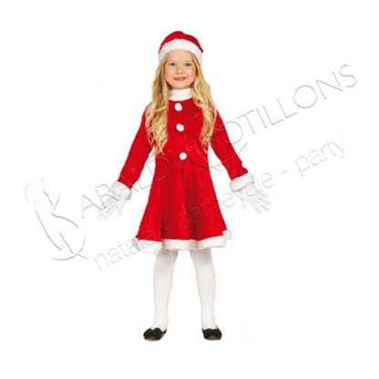 Costume Babbo Natale bambina tk163