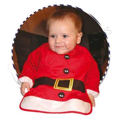 Bavaglino Natalizio Baby con maniche vn111x
