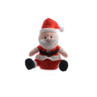 Pupazzo Babbo Natale salterino e parlante cm 20