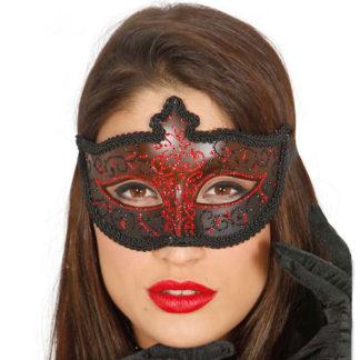 Maschera Veneziana Glitter Rossa
