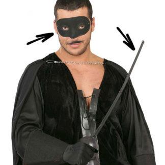 Set Zorro con spada e maschera