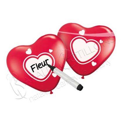 Palloncini a forma di cuore personalizzabili vk170x