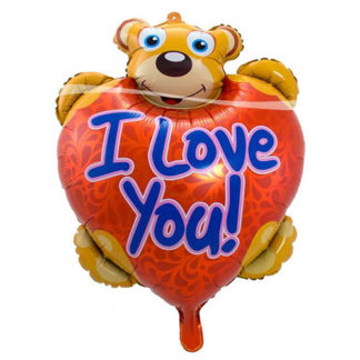 Pallone foil Orsetto I LOVE YOU cm. 80