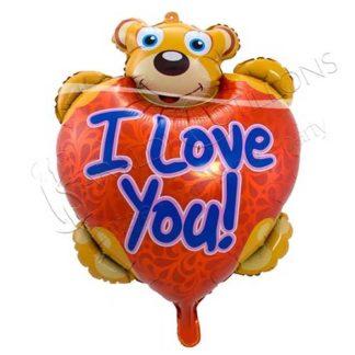 Pallone in foil a forma di Orsetto I LOVE YOU vk336