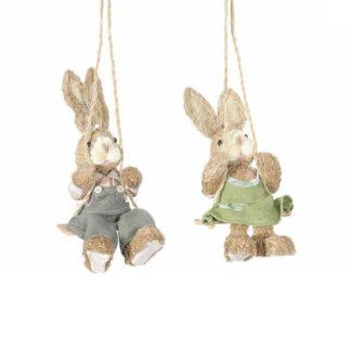 Coniglio sull'altalena cm 27