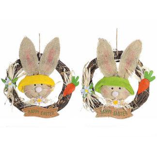 Corona Pasquale Happy Easter cm 34