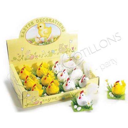 Galline con uova e fiori pq014