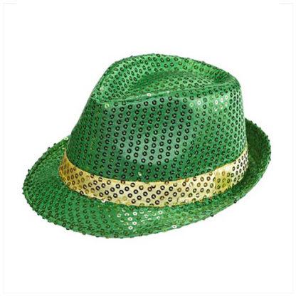 Cappello paillettes Verde