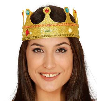 Corona regina con gemme
