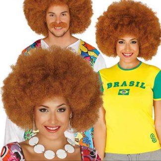 Parrucca afro maxi castana