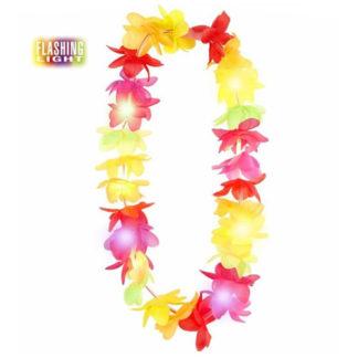 Collana Hawaiana fiori lusso con luce