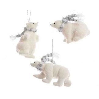 Orsetto Polare con sciarpa cm 15
