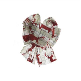 Fiocco di Natale Rosso/Grigio cm 15