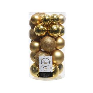 Box 30 Palline di Natale Oro