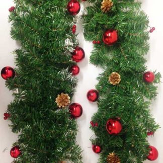 Ghirlanda Pino decorata cm 180