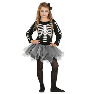 Costume Scheletro bimba 5 - 6 anni