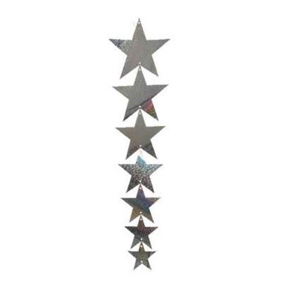 Cascata stelle Argento prismatico cm 83