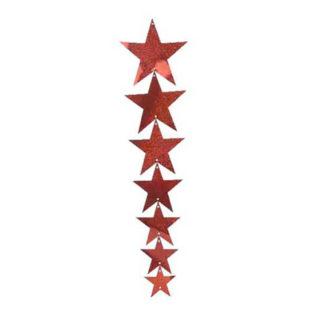 Cascata stelle Rosso prismatico cm 83