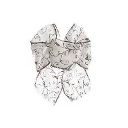 Fiocco di Natale Bianco cm 15