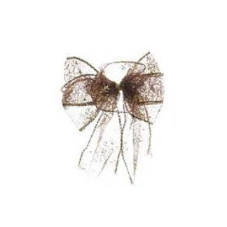 Fiocco di Natale Marrone in tulle cm 15