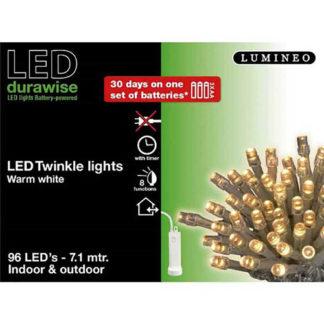 Minilucciole 96 led bianco caldo a batteria con timer mt 7