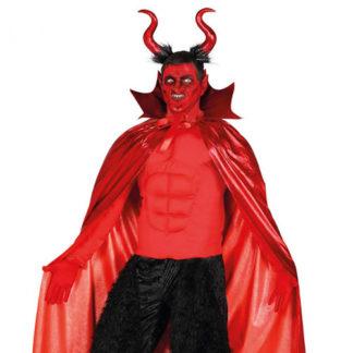 Set Mantello e Corna da Diavolo