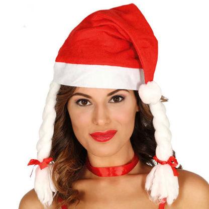 Cappello Babbo Natale con trecce