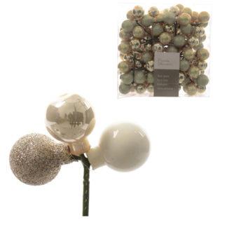 Pick 3 bacche in vetro perla mm 25 set 12 pezzi