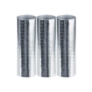Stelle filanti metallizzate Argento conf 3 pezzi