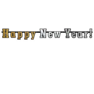 Festone Happy New Year hologram mt. 1,40